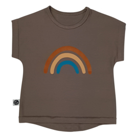Just Juul - T-shirt Taupe Rainbow