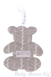 Baby Anne-Cy - Speendoekje beer grijs
