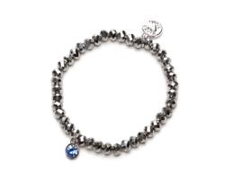 Proud MaMa - Charm armbandje Zilver met Roze of Blauwe bedel