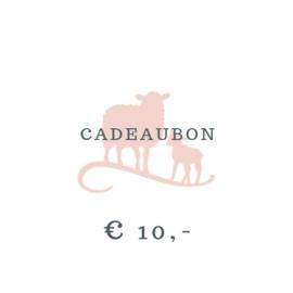 Cadeaubon € 10