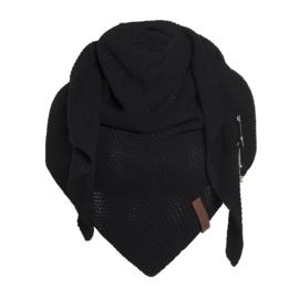Knit Factory - Omslagdoek Zwart