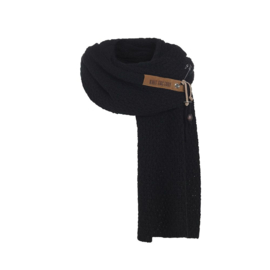 Knit Factory - Sjaal Luna Zwart