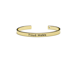 Proud MaMa -   Bangle Bracelet Goud