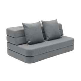 by KlipKlap - KK 3 Fold Sofa Blue Grey XL (140cm)