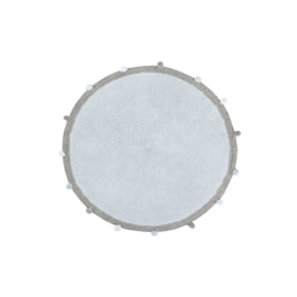 Lorena Canals - Vloerkleed Bubbly Soft Blue (diameter 120 cm)