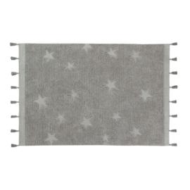Lorena Canals - Vloerkleed Hippie Stars (120x175 cm grey)