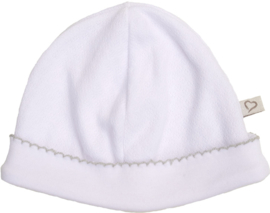 Mats & Merthe - Babymutsje Wit
