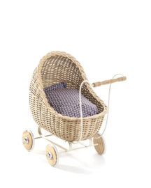 Smallstuff - Rieten poppenwagen Naturel