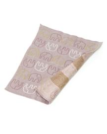 Smallstuff - Gebreid poppendekentje roze met goud