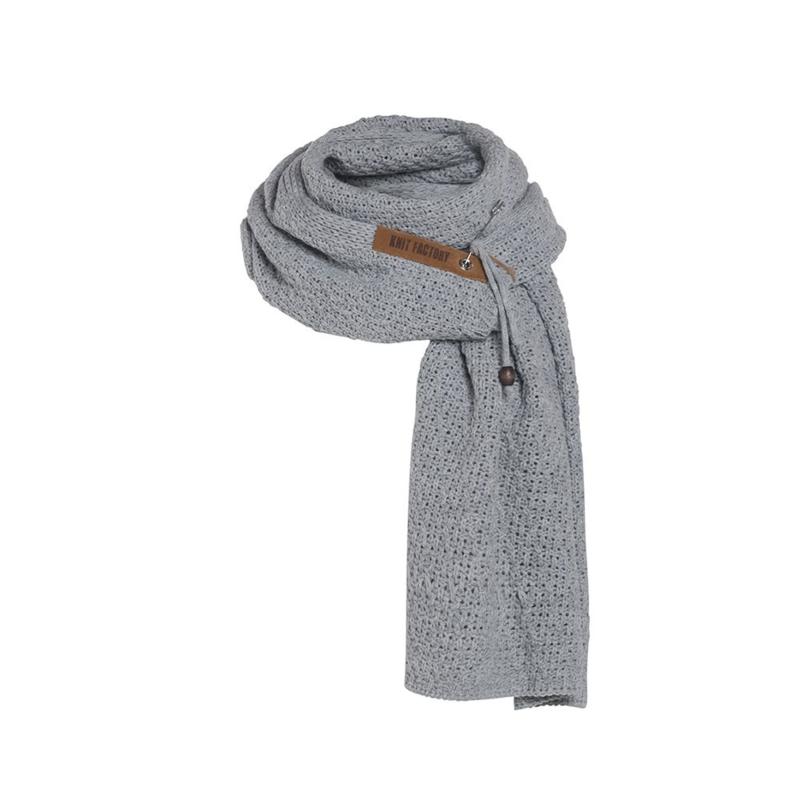 Knit Factory - Sjaal Luna Licht Grijs