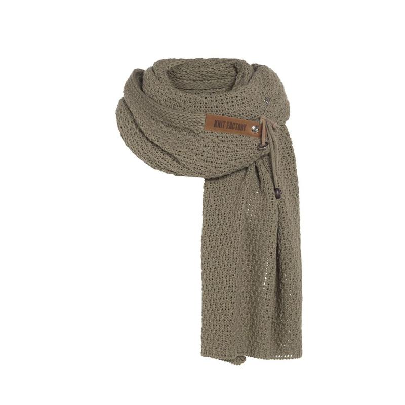 Knit Factory - Sjaal Luna Olive