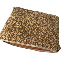 Projectbag XS, Vintage Bloemenprint met roestbruine voering