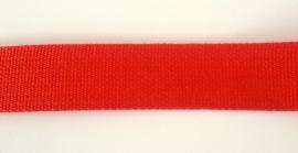 Katoen tassenband 3 cm, rood