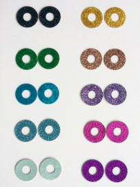 Sparkling Eyes, glitter veiligheidsoogjes 12 mm