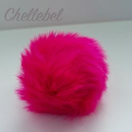 Fluffy pompon fuchsia