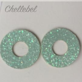 Sparkling Eyes, glitter veiligheidsoogjes 18 mm, 5 paar paars