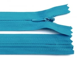 Blinde rits, 40 cm turquoise, 5 stuks