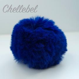 Fluffy pompon blauw