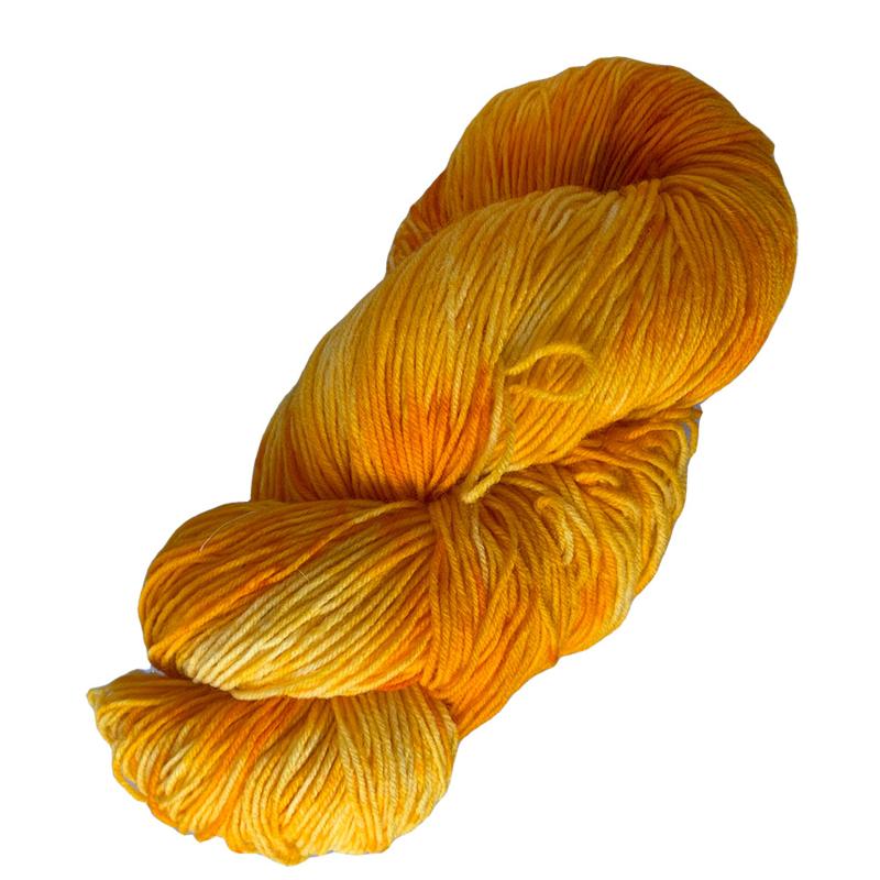 Handgeverfd garen, Goldie Delicious, sokkenwol 100 gram