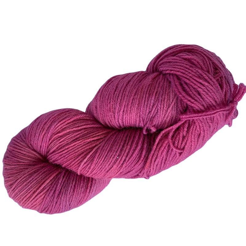 Handgeverfd garen, Framboise, 100 gram sokkenwol
