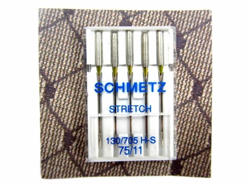 Schmetz stretchnaalden, 75/11   5 stuks in een doosje