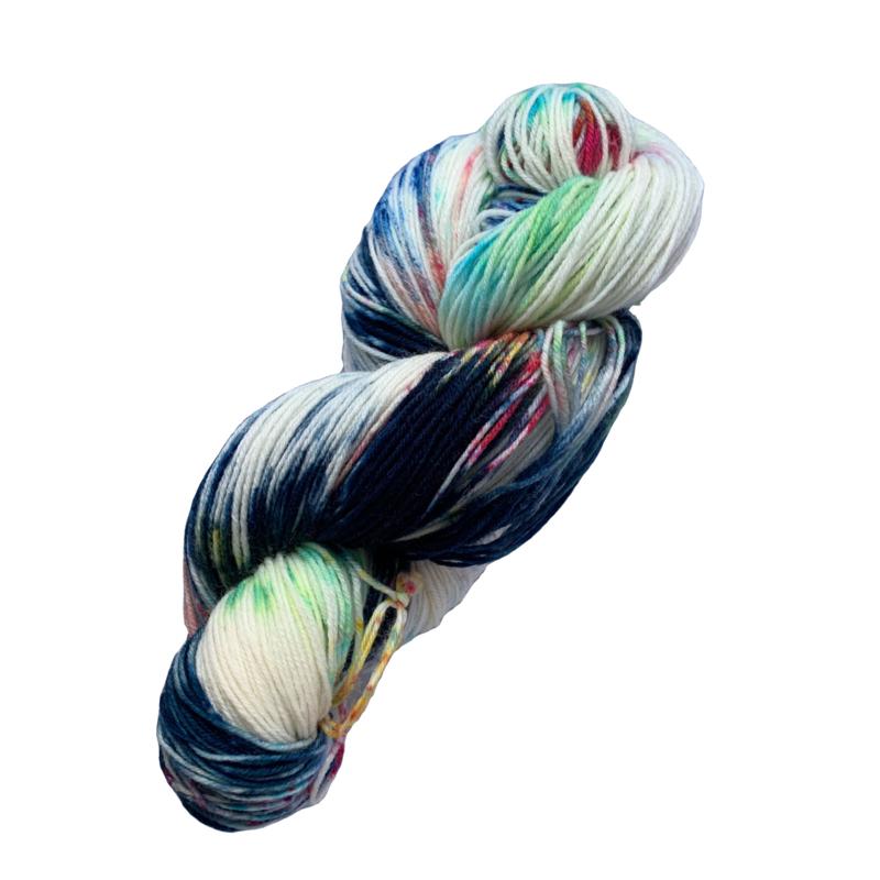 Handgeverfd garen, 100 gram sokkenwol