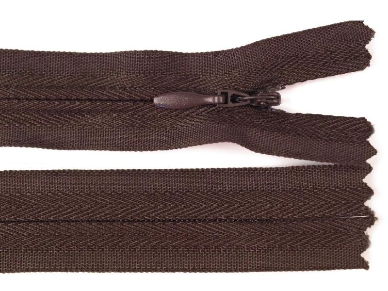 Blinde rits, 40 cm donker bruin, 5 stuks