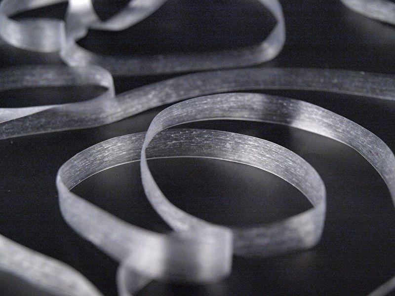 Elastisch transparante tape 6 mm breed 100 meter