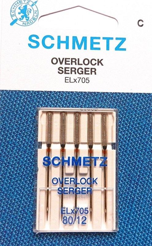 Schmetz Overlock ELx705 80/12 5 stuks per doosje