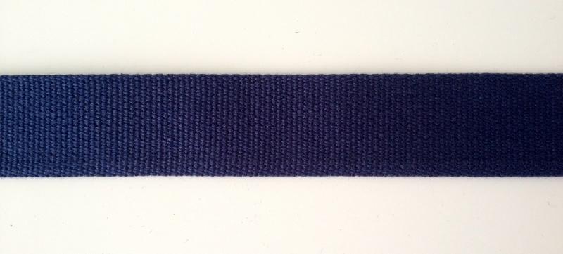 Katoen tassenband 3 cm, donker blauw