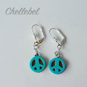 Steekmarkeerders Peace, turquoise. Per stuk