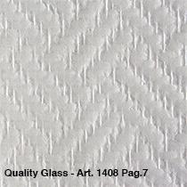 Niet voorgeschilderd  visgraat motief/ Quality Glass 1408