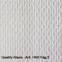 50m2 niet voorgeschilderd  fijn blok motief/ Quality Glass 1401
