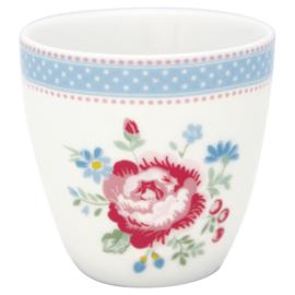 GreenGate Stoneware Mini Latte Cup Evie White H 6,5 cm