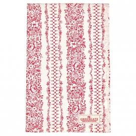 GreenGate Tea towel Jenny Red 50 x 70 cm