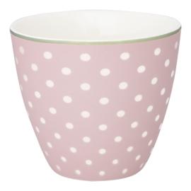 GreenGate Stoneware Latte Cup Spot Pale Pink H 9 cm