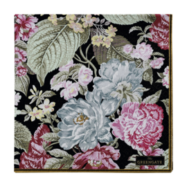 GreenGate Paper Napkin Adele Black Large 20 Pieces 33 x 33 cm