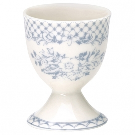 GreenGate Stoneware Egg Cup Stephanie Dusty Blue H 6,5 cm