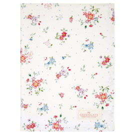 GreenGate Cotton Teatowel Belle White 50 x 70 cm