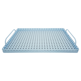 GreenGate Iron Tray Pale Blue Rectangular Medium