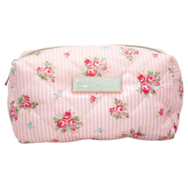 GreenGate Washbag Abigail Stripe Pale Pink Small 11x8x18 cm