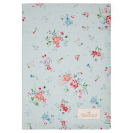 GreenGate Cotton Teatowel Belle Pale Blue 50 x 70 cm
