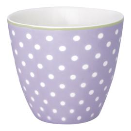 GreenGate Stoneware Latte Cup Spot Lavendar H 9 cm