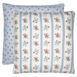GreenGate Quilted Cushion Evie White 50 x 50 cm