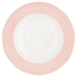 GreenGate Stoneware Deep Plate Alice Pale Pink D 21,5 cm