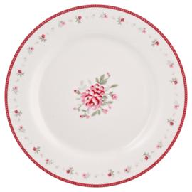 GreenGate Stoneware Plate Flora Vintage D 20,5 cm
