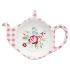 GreenGate Stoneware Teabagholder Henrietta White