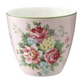 GreenGate Stoneware Latte Cup Aurelia Pale Pink H 9 cm