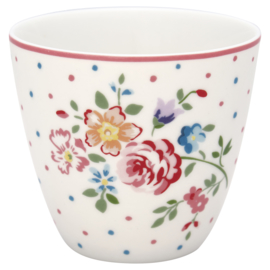 GreenGate Stoneware Latte cup Belle White H 9 cm