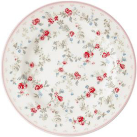GreenGate Stoneware Small Plate Carly White D 15 cm